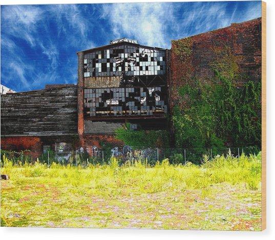 Abandoned Factory 1 Wood Print