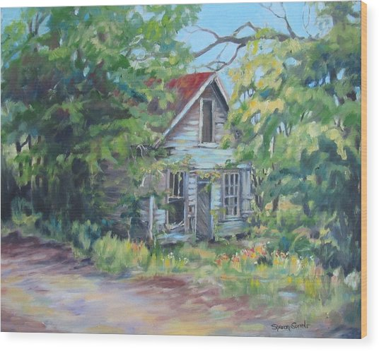 Abandoned House In Galivants Ferry Wood Print
