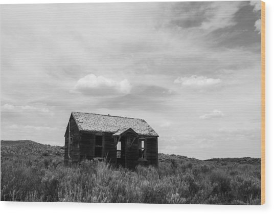 Abandoned House In Oklahoma Wood Print