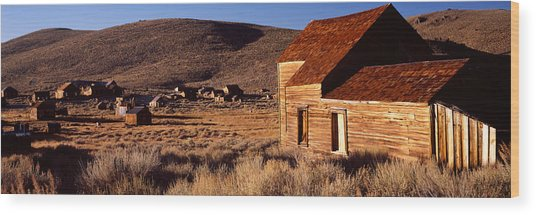 Abandoned Houses In A Village, Bodie Wood Print