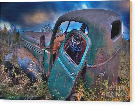 Abandoned II Wood Print