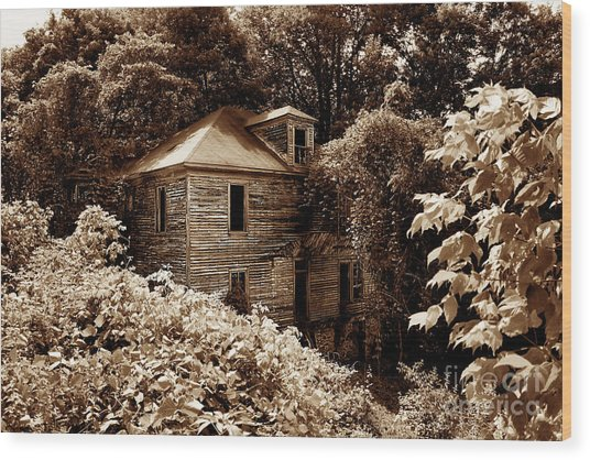 Abandoned In Time Wood Print