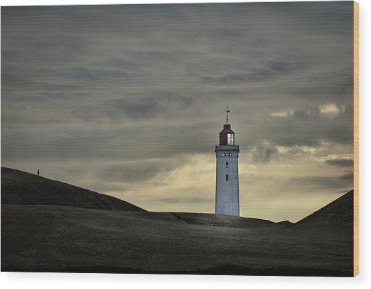 Abandoned Lighthouse Wood Print