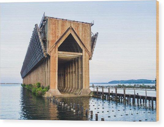 Abandoned Ore Dock Marquette Michigan Wood Print