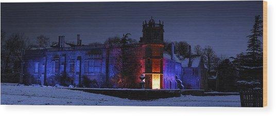 Abbey At Night Wood Print