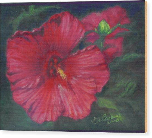 Abby Rose's Mallow Wood Print