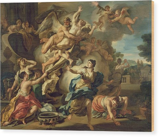 Abduction Of Orithyia Wood Print