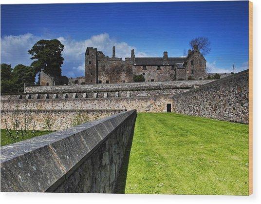 Aberdour Castle Wood Print