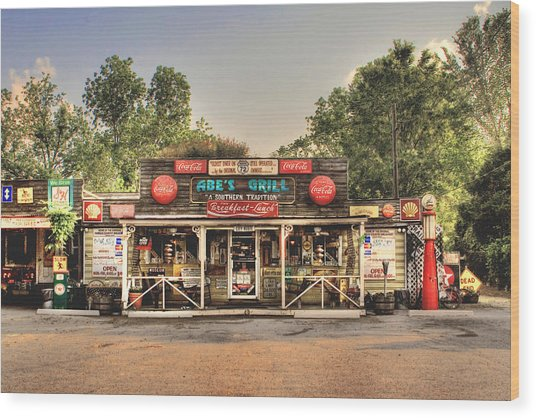 Abe's Grill - Fine Southern Food Wood Print