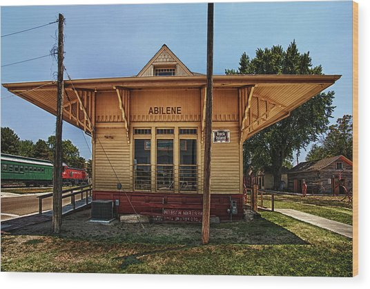 Abilene Station Wood Print
