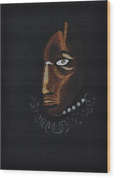 Aboriginal Woman Wood Print