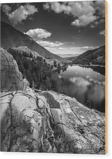 Above Cooney Lake Wood Print