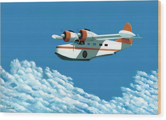 Above It All  The Grumman Goose Wood Print