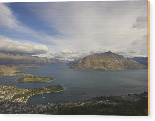 Above Queenstown #2 Wood Print