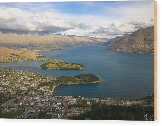 Above Queenstown Wood Print