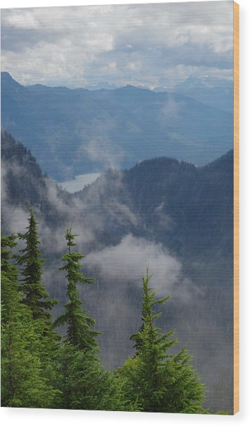 Above The Cloud Wood Print