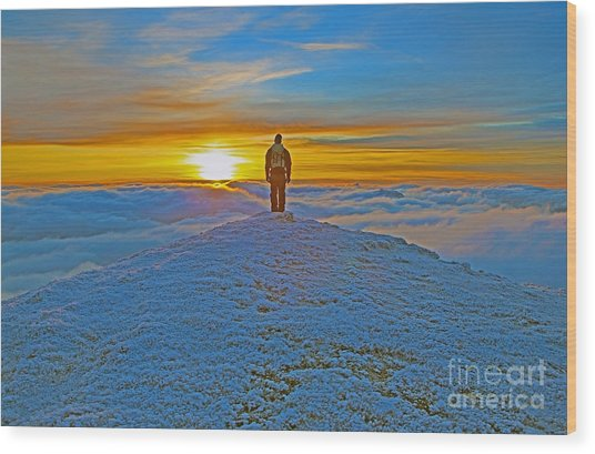 Above The Clouds Wood Print by Lynne Sutherland