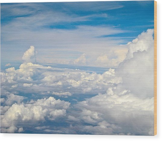 Above The Clouds Over Texas Image B Wood Print