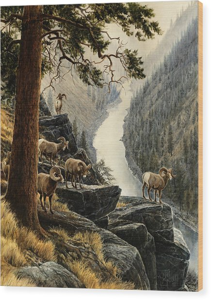 Above The River Wood Print