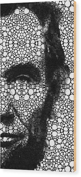 Abraham Lincoln - An American President Stone Rock'd Art Print Wood Print