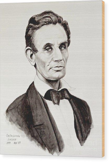 Abraham Lincoln At 49 Wood Print