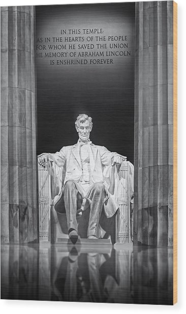Abraham Lincoln Memorial Wood Print