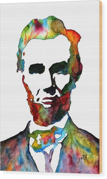 Abraham Lincoln Original Watercolor  Wood Print