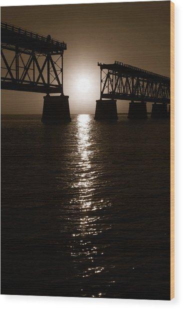 Abridged Bridge Wood Print