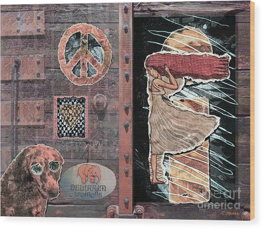 Absinthe Night In Brussels Wood Print