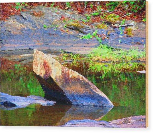 Abstact Rock Wood Print