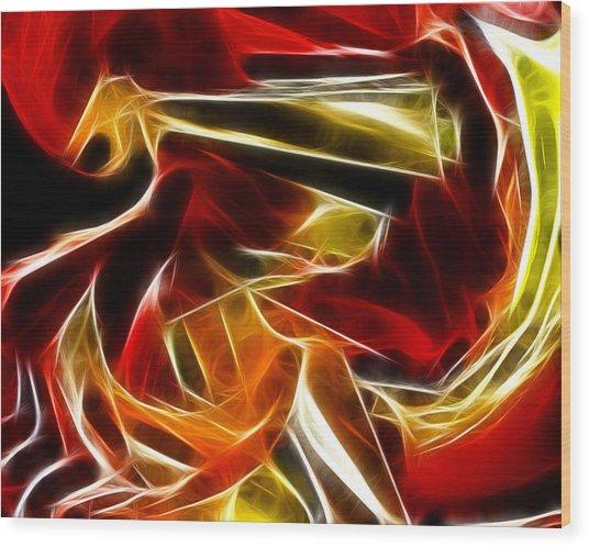 Abstract 006 Wood Print