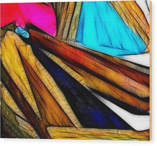 Abstract 012 Wood Print