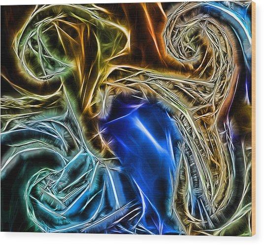 Abstract 020 Wood Print