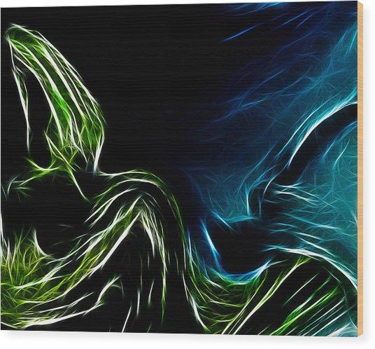 Abstract 022 Wood Print