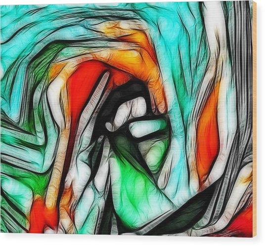 Abstract 023 Wood Print