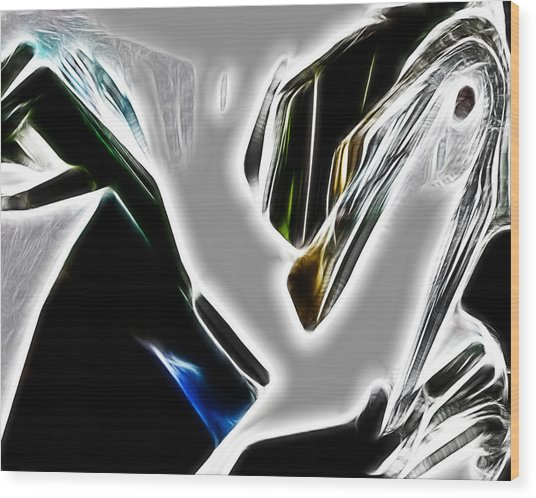 Abstract 030 Wood Print