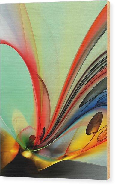 Abstract 040713 Wood Print