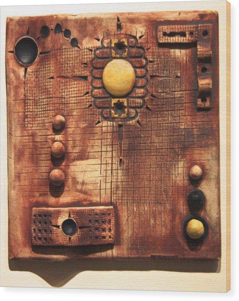 Abstract 6 Wood Print by Dan Earle