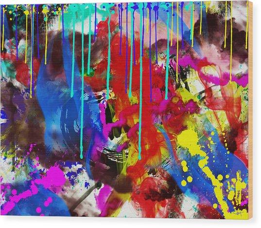 Abstract 6832 Wood Print