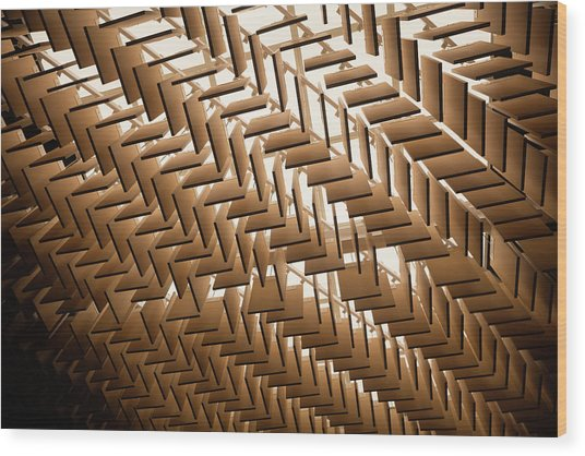 Abstract Architectural Pattern Wood Print