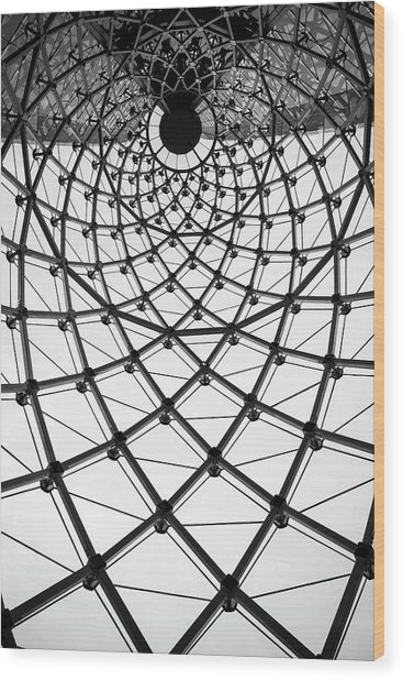 Abstract Architecture Curved Steel Beam Wood Print by Tapanuth