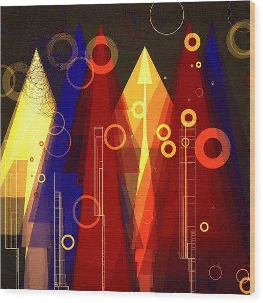 Abstract Art Deco Wood Print