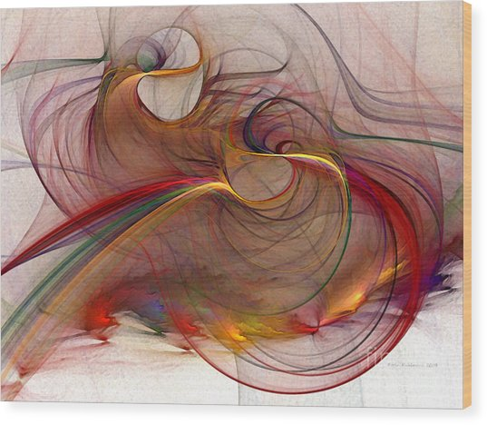 Abstract Art Print Inflammable Matter Wood Print