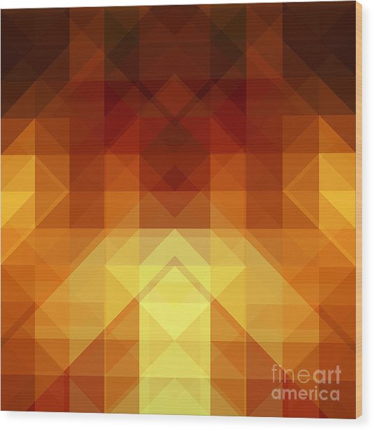 Abstract Background From Triangle Shapes Wood Print