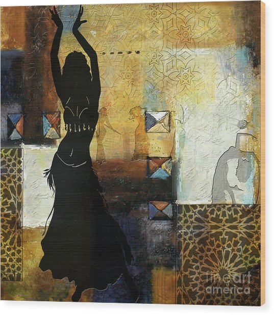 Abstract Belly Dancer 7 Wood Print