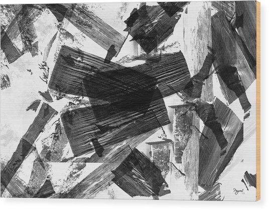 Abstract Chunky Wood Print