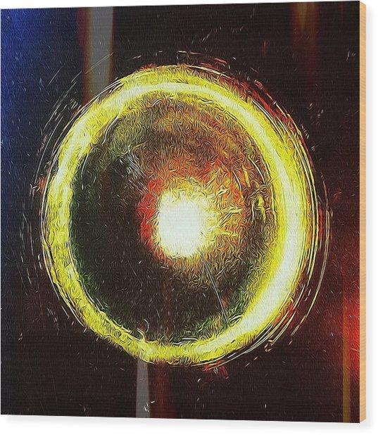 Abstract Circle Wood Print