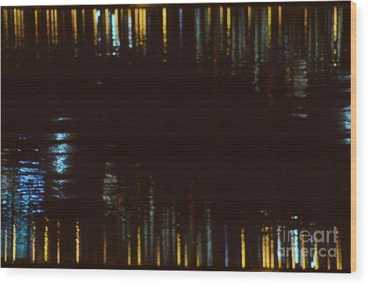 Abstract City Lights Wood Print