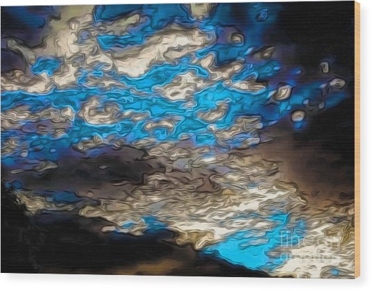 Abstract Clouds Wood Print