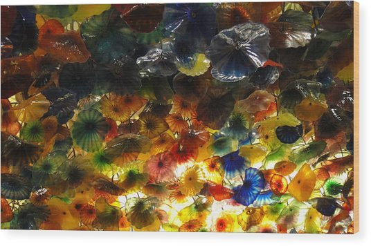 Abstract Color Wood Print by Michael Davis